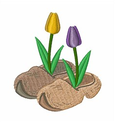 Wooden Shoe Tulips embroidery design