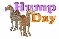 Hump Day embroidery design
