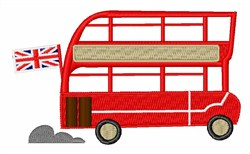 London Bus embroidery design
