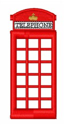 Telephone Booth embroidery design