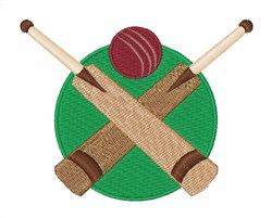 Cricket Bats embroidery design