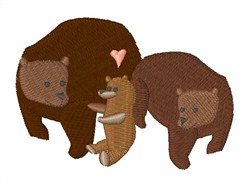 Bear Family embroidery design