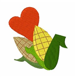 Corn On Cob embroidery design