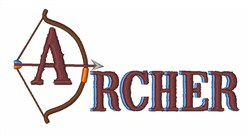 Archer embroidery design
