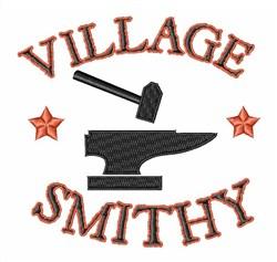 Village Smithy embroidery design