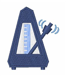 Metronome embroidery design