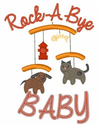Rock A Bye Baby embroidery design