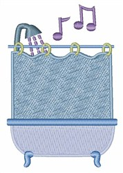 Sing In Shower embroidery design