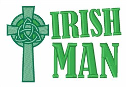 Irish Man embroidery design