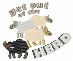 Out Of Herd embroidery design