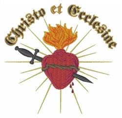 Christo Et Ecclesiae embroidery design