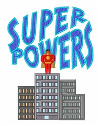 Super Powers embroidery design
