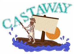 Castaway embroidery design