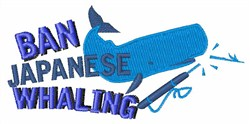 Ban Whaling embroidery design