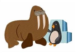 Walrus & Penguin embroidery design