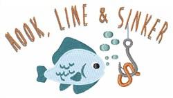 Hook LIne Sinker embroidery design