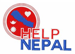 Help Nepal embroidery design