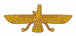 Zorastrian Symbol embroidery design