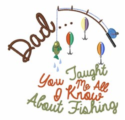 I Know Fishing embroidery design