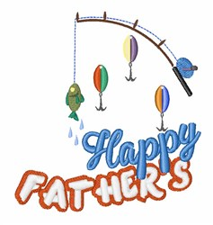 Happy Fathers embroidery design