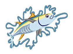Tuna Fishing embroidery design