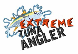 Tuna Angler embroidery design