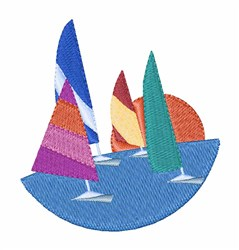 Sail Boats embroidery design