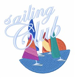 Sailing Club embroidery design