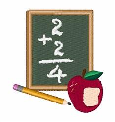 School Math embroidery design