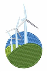 Wind Turbines embroidery design