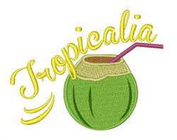 Tropicalia embroidery design