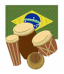 Brazil Drums embroidery design