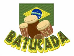 Batucada embroidery design