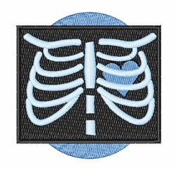 Chest X-Ray embroidery design