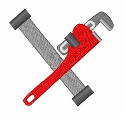 Pipe & Wrench embroidery design