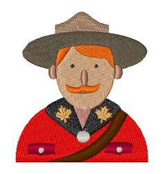 Canadian Mountie embroidery design