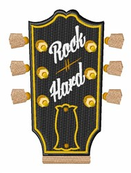 Guitar Head Stock embroidery design