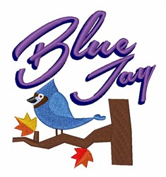 Cartoon Bluejay embroidery design