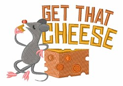 Mouse & Cheese embroidery design