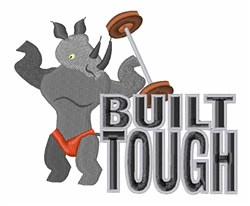 Weightlifting Rhino embroidery design