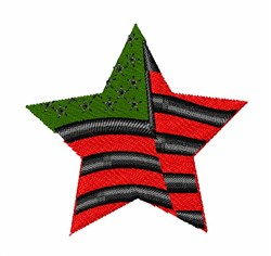 American Flag Star embroidery design