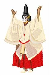Japanese Performance Art embroidery design