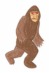 Bigfoot embroidery design