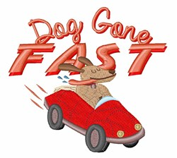 Dog Gone Fast embroidery design