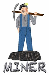 Miner Man embroidery design