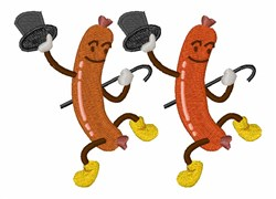 Dancing Hot Dogs embroidery design