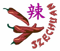 Pepper Szechuan embroidery design