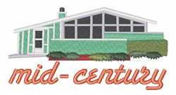 Mid-Century Home embroidery design