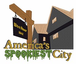 Spookiest City embroidery design