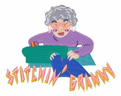 Stitchin Granny embroidery design